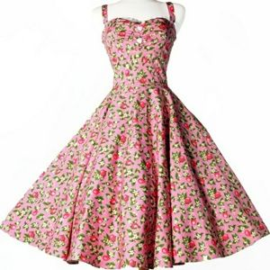 Pin-Up Girl Nancy Dress in Pink Lemonade, 3x
